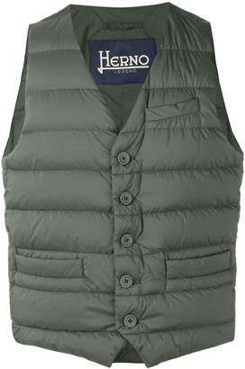 Herno padded fitted gilet