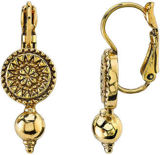 JCPenney 1928 Jewelry Antiqued Gold-Tone Leverback Earrings