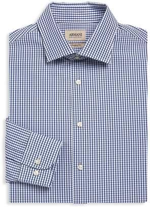 Giorgio Armani Men's Modern-Fit Plaid Dress Shirt
