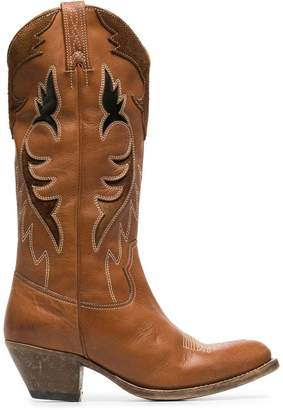 Golden Goose leather knee high cowboy boots