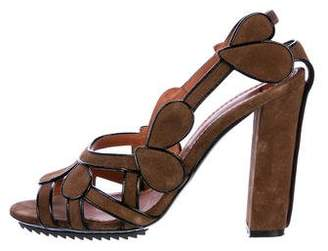 Lanvin Suede Cutout Sandals