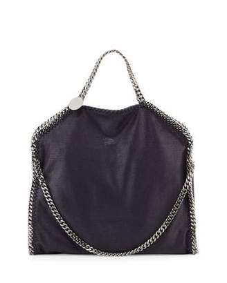Stella McCartney Falabella Fold-Over Tote Bag, Navy $1,195 thestylecure.com