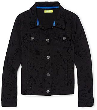 JCPenney Dreampop® by Cynthia Rowley Flocked Denim Jacket - Girls 6-16