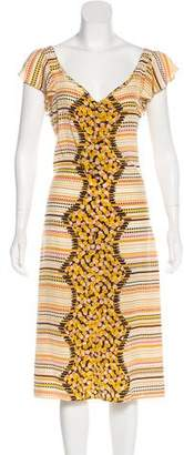 Mayle Printed Midi Dress