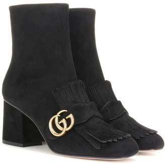 Gucci Embellished suede ankle boots