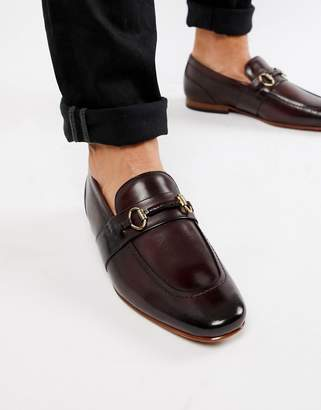 a7aeac18a Ted Baker Daiser bar loafers in burgundy leather