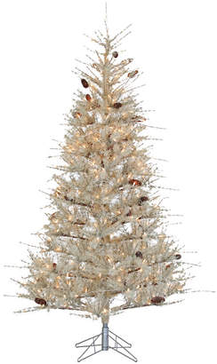 Sterling Tree Company 7Ft Frosted Sage Hard Needle Slim Tree