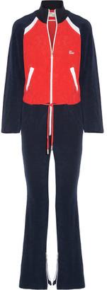 Off-White - Color-block Cotton-terry Jumpsuit - Navy $740 thestylecure.com