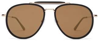 Tom Ford Tripp Metal And Acetate Aviator Sunglasses - Mens - Black