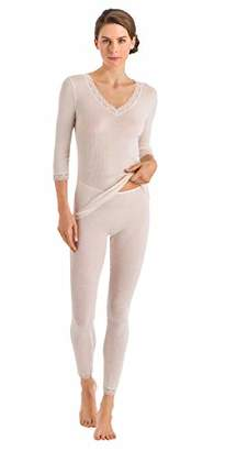 Hanro Women's Woolen Lace 3/4 Sleeve Shirt