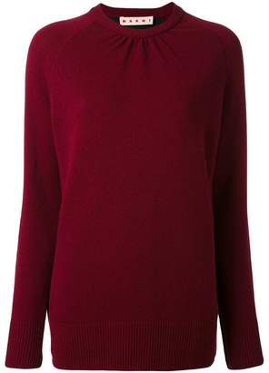 Marni bi-colour crew neck sweater