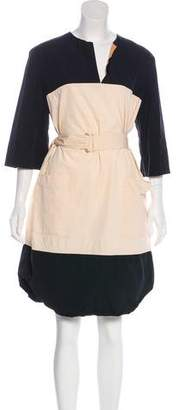 Dries Van Noten Belted Colorblock Dress