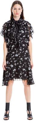 Max Studio over printed jacquard tie dress