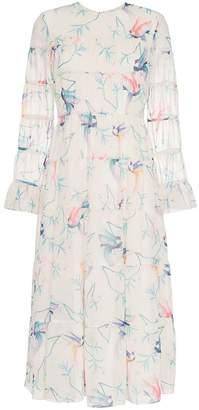 DAY Birger et Mikkelsen Borgo De Nor Viola bird printed flared cuff dress