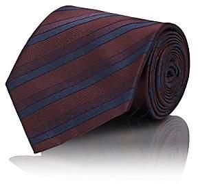 Brioni Men's Striped Silk Twill Necktie - Red