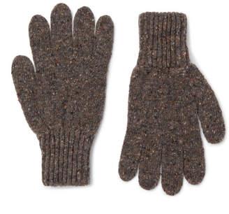 4b76ad9e6dc at Mr Porter · Drakes Drake s - Donegal Merino Wool Gloves - Men - Brown