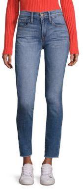 FRAME Le Skinny De Jeanne Raw Hem Skinny Jeans $225 thestylecure.com