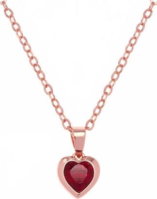 Ted Baker Hannela Swarovski Crystal Heart Pendant Necklace