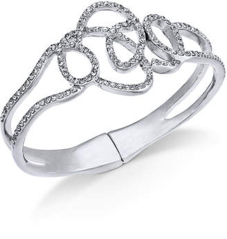 INC International Concepts I.N.C. Silver-Tone Pavé Tangle Bangle Bracelet, Created for Macy's