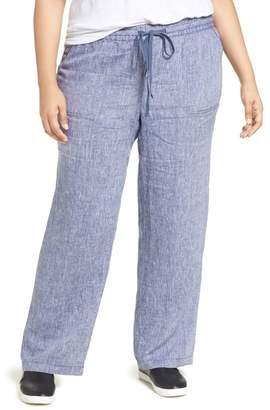 Caslon Drawstring Linen Pants (Plus Size)