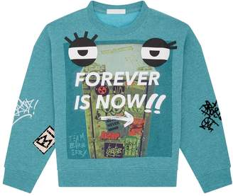 Burberry Forever is Now Slogan Sweatshirt
