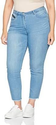 Ulla Popken Women's Sommer-Jeanshose Knöchellang Straight Jeans