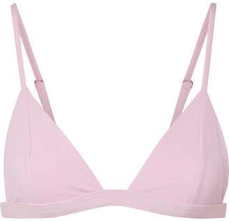Mara Hoffman Astrid Triangle Bikini Top - Pastel pink