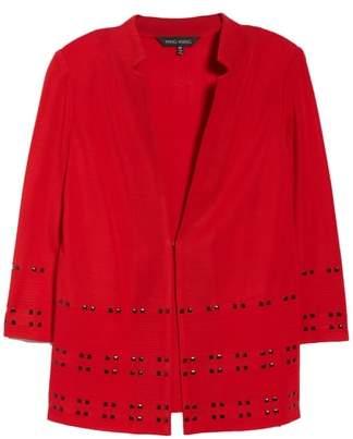 Ming Wang Studded Knit Jacket