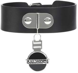 Vetements Georgian Logo leather choker