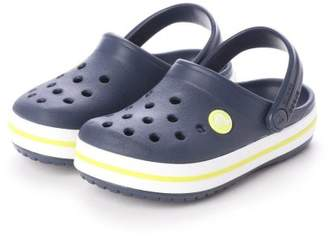 Crocs (クロックス) - LOCONDO クロックス crocs 204537 クロックバンド キッズ (ネイビー×シトラス)