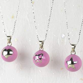 Tales From The Earth Pink Heart, Star Or Butterfly Pregnancy Necklace