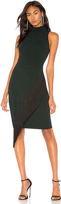 Milly Angled Fringe Dress