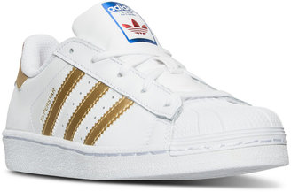 adidas Little Girls' Superstar Sneakers from Finish Line $54.99 thestylecure.com