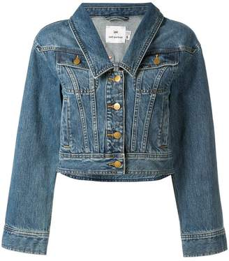 Self-Portrait pointed collar denim jacket