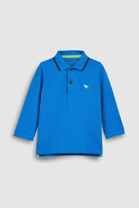 Next Boys Green Long Sleeve Polo (3mths-7yrs)