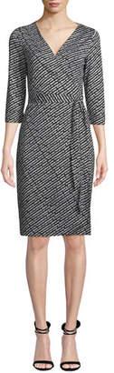 Diane von Furstenberg Julian Silk Jersey Logo Wrap Dress