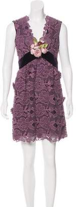 Anna Sui Embroidered Mini Dress w/ Tags