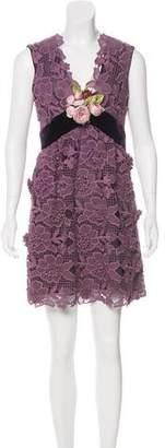 Anna Sui Embroidered Mini Dress w/ Tags