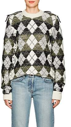 J.W.Anderson Women's Inside-Out Argyle Wool Sweater