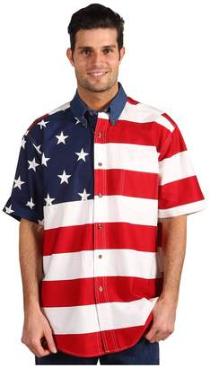 Roper Stars Stripes Pieced Flag Shirt S/S Men's Clothing