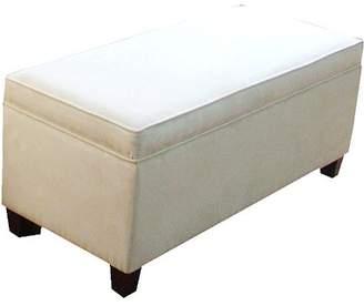 HomePop End of Bed Storage Bench, Cream