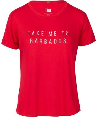 Tru Barbados Barbados Print Tee Red