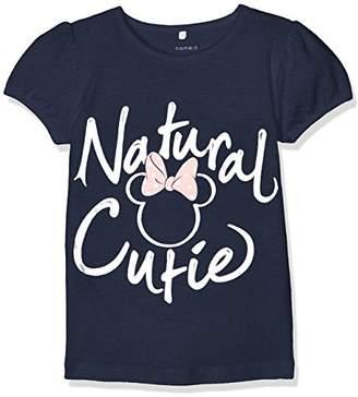 Name It Girl's Nitminnie Sky SS Top Mini Wdi T-Shirt