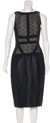 Antonio Berardi Lace-Paneled Midi Dress
