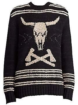 e0234f2d6 Ralph Lauren Women s 50th Anniversary Steer Head Skull Pullover Sweater
