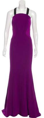 Zac Posen Embellished Maxi Dress