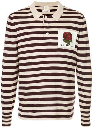 Kent & Curwen striped polo sweater