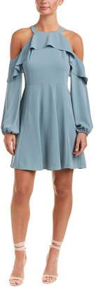 BCBGMAXAZRIA Cold-Shoulder A-Line Dress