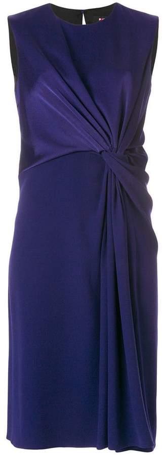 draped shift dress