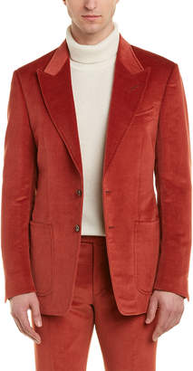 Tom Ford Shelton 2Pc Wool & Linen-Blend Suit With Flat Pant